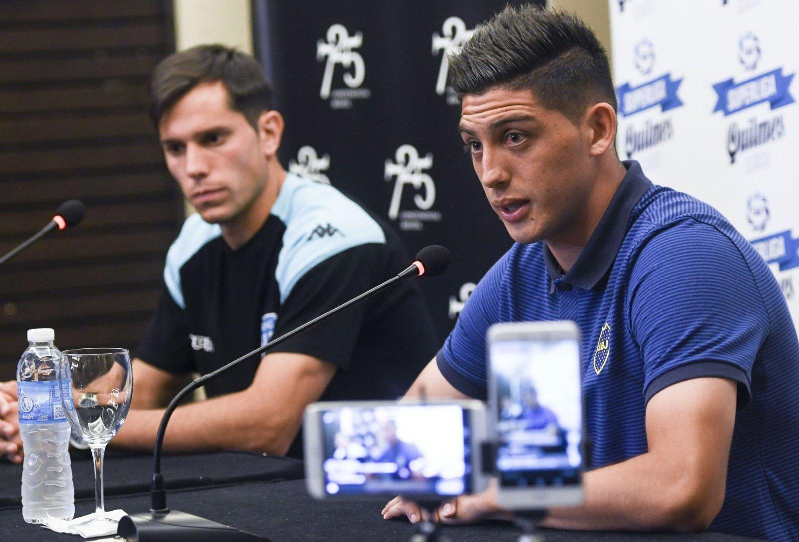 Racing: Espinoza y Solari juntos en la previa de Boca