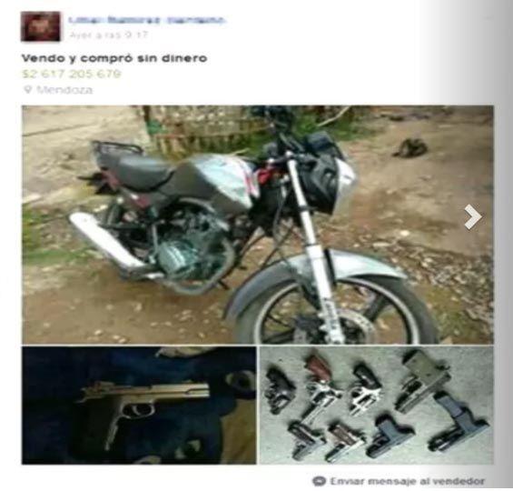 Un preso puso en venta sus armas por Facebook — Mendoza