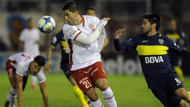 Gago entrenó sin problemas y será titular ante Huracán