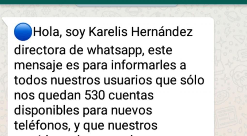 Alertan sobre un mensaje de WhatsApp que sirve para robar datos