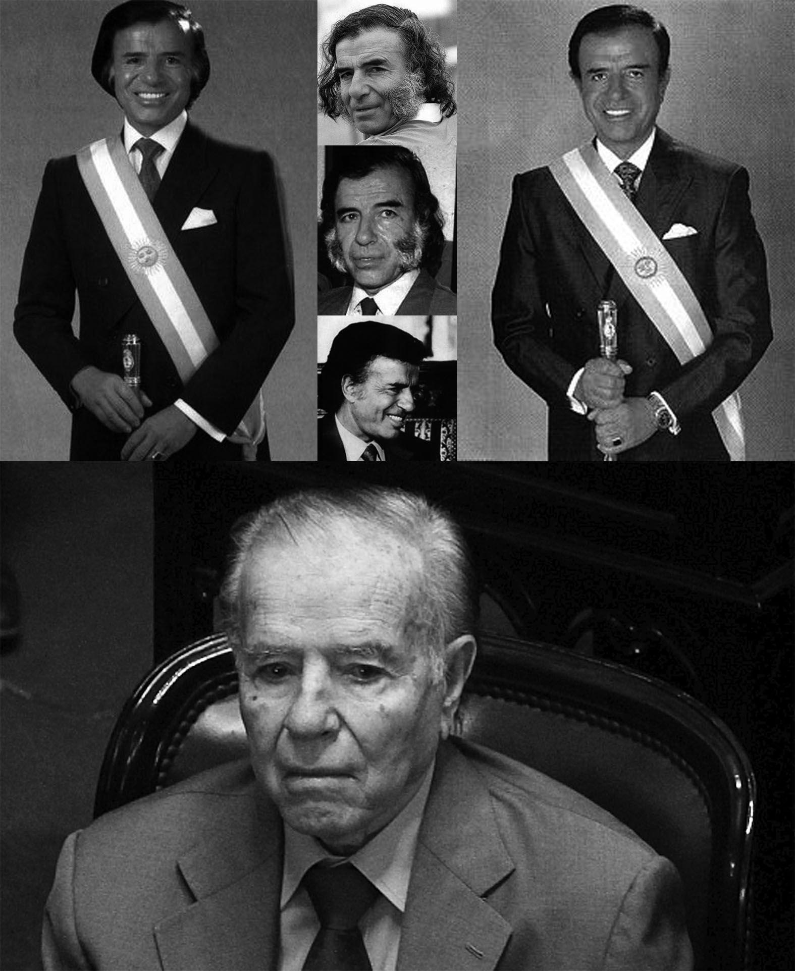 Menem recordó a Perón, lloró y realizó un spot de campaña