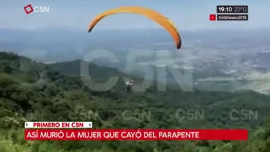 Una médica cayó desde un parapente — Tragedia en Tucumán