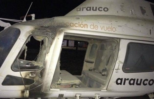 Queman una capilla y dos helicópteros en Temuco