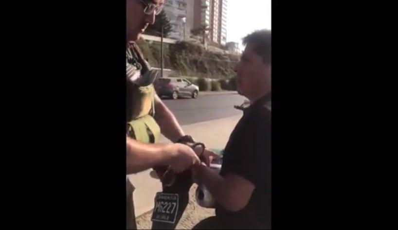 Un turista argentino quiso coimear a un carabinero y quedó detenido — Chile