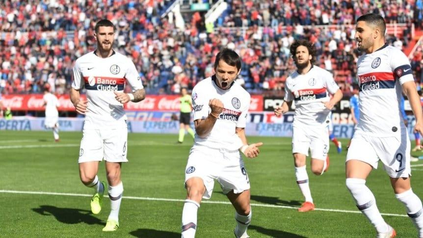 Ángel Romero anota su primer gol en San Lorenzo