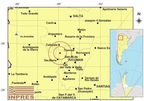 Terremoto en Argentina de 6.1 sacudió el noroeste del país