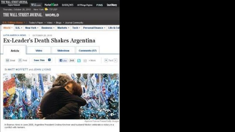 "La ""triste"" mirada del diario The Wall Street Journal"