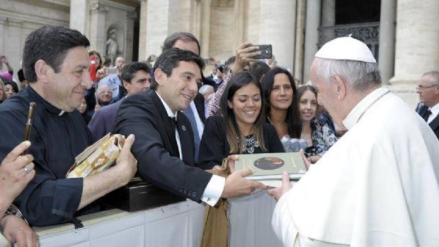 El intendente de FME, con el Papa Francisco