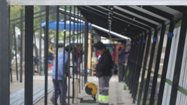 Mayor seguridad para los puestos del Paseo de la Estación