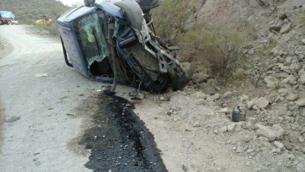 Volcó vehículo del municipio de Antofagasta