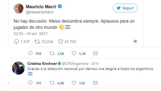 Messi unió a Macri y Cristina…