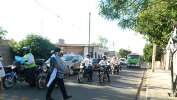 La Virgen del Valle visitó Tránsito Municipal y el CD