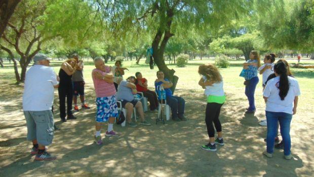Actividades de Salud en el parque Adán Quiroga