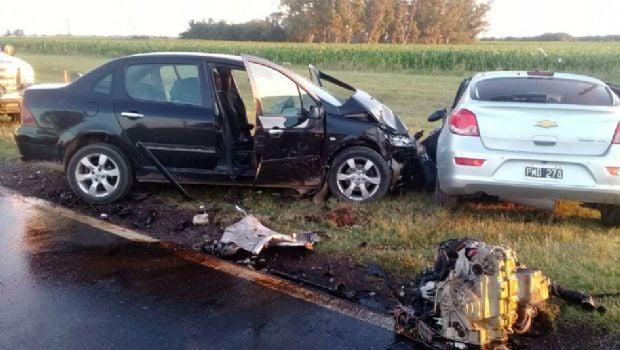 Fatal saldo de un choque múltiple en Ruta 8