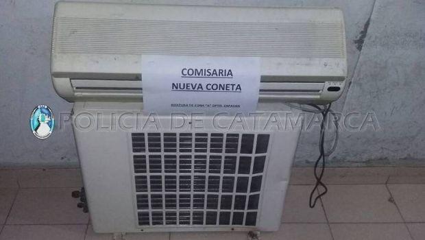 Recuperan un aire acondicionado sustraído en Capayán