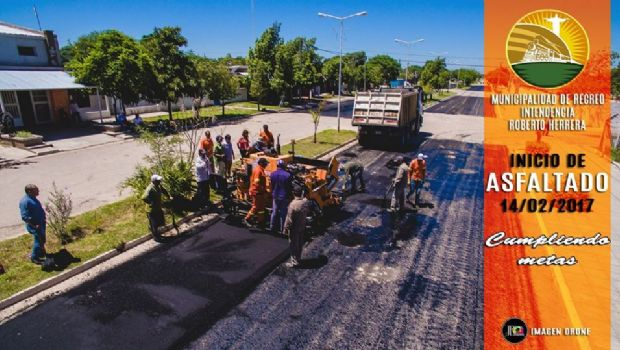 Comenzaron los trabajos de asfaltado de calles en Recreo