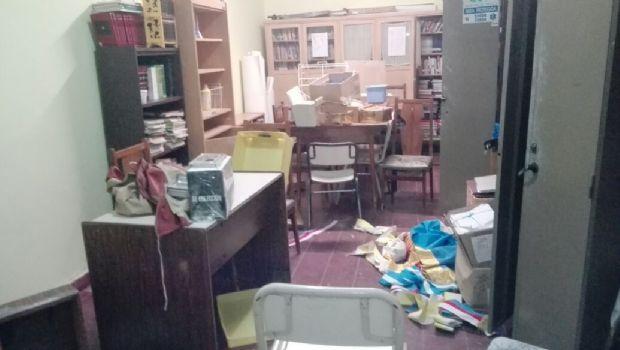 Nuevo robo en la escuela Juan Pablo II: No se salvaron ni los santos