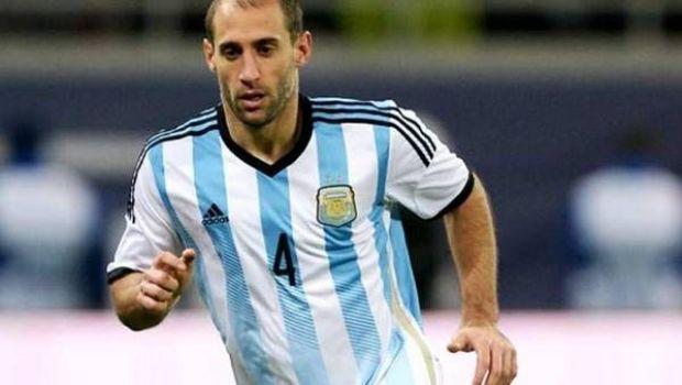 Pablo Zabaleta es baja para la fecha de Eliminatorias