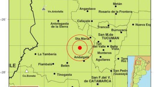 Sismo de magnitud 5 en Catamarca