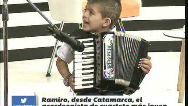 VIDEO: Niño prodigio de Catamarca deslumbra en la TV cordobesa