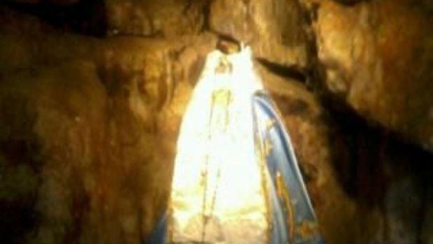 Así quedó la imagen de la Virgen del Valle tras el ataque