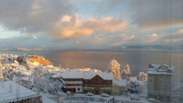 Domingo de frío y nevada histórica en Bariloche: hizo -25 grados