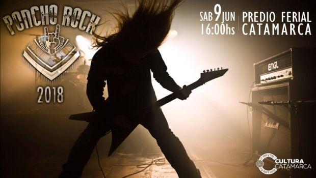 "Presentan la cartelera del ""Poncho Rock 2018"""
