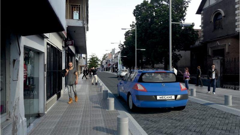 La extensión de la peatonal Rivadavia, en marcha