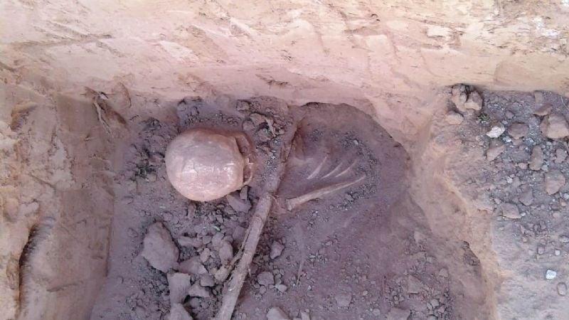 Investigan el hallazgo de restos óseos en Belén