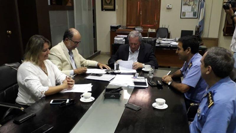 Convenio con la Secretaría de Seguridad para la ejecución de aulas en la Escuela de Cadetes