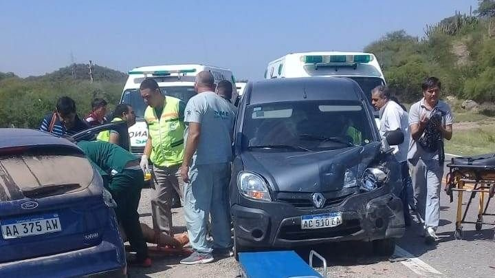 Triple accidente en ruta 38