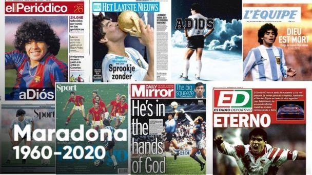 Las impactantes tapas con la que los medios del mundo despidieron a Diego  Maradona | El Esquiu
