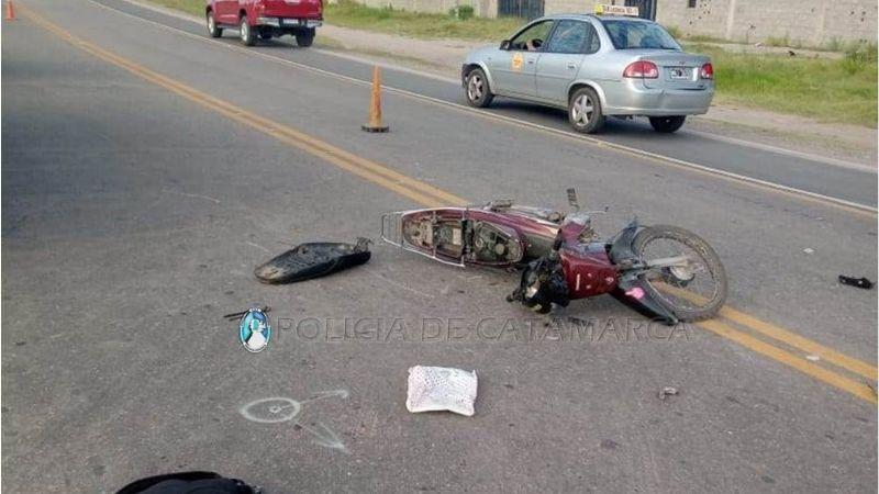 Violento choque entre dos motos
